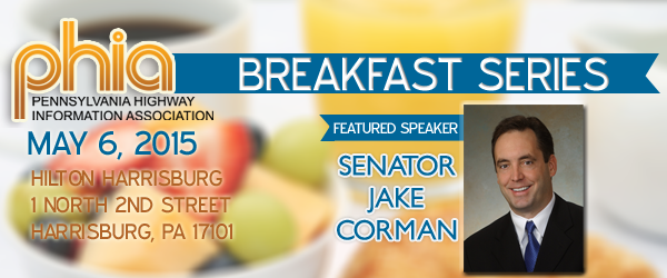 Corman to Speak at May 6 PHIA Breakfast