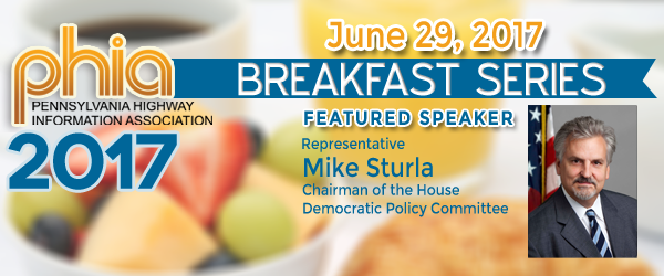 Rep. Mike Sturla to Speak at June 29 PHIA Breakfast